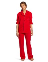 Women's Minky Notched Collar Pajama Set:Sleepwear set Provides the perfect comfort and warmth for a great night sleep/Sure to keep you warm this season/100% Polyester/Machine Wash.
