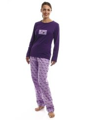 Womens Premium 100% Cotton Flannel/Knit Sleepwear Set:Pant with elastic waistband and drawstring for comfort sizing/Two side seam pockets on bottoms/Brushed flannel for soft hand feel/Fabric:Top : Buttery soft cotton and modal jersey - 60% Cotton/40% Modal - Bottom : 100% Premium Cotton Flannel for warmth.