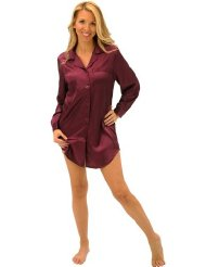 Women's Sexy Satin Nightshirt, Sleepshirt & Sleep Mask:Full sleeves with notched cuffs with Button-down front.Premium Satin Poly,size Small to 3X.Customer Reviews are 4.5 out of 5.0 stars.